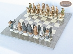 picture of Jungle Life Chessmen with Spanish Lacquered Chess Board [Grey] (2 of 8)