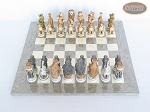 picture of Jungle Life Chessmen with Spanish Lacquered Chess Board [Grey] (3 of 8)