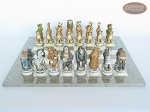 picture of Jungle Life Chessmen with Spanish Lacquered Chess Board [Grey] (4 of 8)