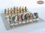 picture of Jungle Life Chessmen with Spanish Lacquered Chess Board [Grey] (5 of 8)