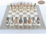 picture of Jungle Life Chessmen with Large Spanish Lacquered Chess Board [Grey] (3 of 8)