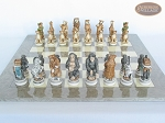 picture of Jungle Life Chessmen with Large Spanish Lacquered Chess Board [Grey] (4 of 8)