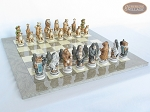 picture of Jungle Life Chessmen with Large Spanish Lacquered Chess Board [Grey] (5 of 8)