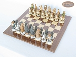 picture of Jungle Life Chessmen with Spanish Lacquered Chess Board [Wood] (2 of 8)