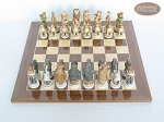 picture of Jungle Life Chessmen with Spanish Lacquered Chess Board [Wood] (3 of 8)