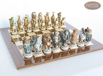 picture of Jungle Life Chessmen with Spanish Lacquered Chess Board [Wood] (5 of 8)