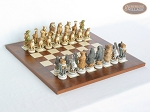 Jungle Life Chessmen with Italian Lacquered Chess Board [Wood] - Item: 836