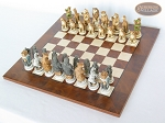 picture of Jungle Life Chessmen with Italian Lacquered Chess Board [Wood] (2 of 8)