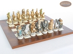 picture of Jungle Life Chessmen with Italian Lacquered Chess Board [Wood] (5 of 8)