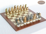 Jungle Life Chessmen with Spanish Traditional Chess Board [Large] - Item: 833