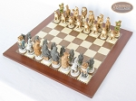 picture of Jungle Life Chessmen with Spanish Traditional Chess Board [Large] (2 of 8)