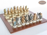 picture of Jungle Life Chessmen with Spanish Traditional Chess Board [Large] (5 of 8)