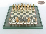 picture of Jungle Life Chessmen with Italian Lacquered Chess Board [Green] (3 of 8)