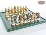 picture of Jungle Life Chessmen with Italian Lacquered Chess Board [Green] (5 of 8)