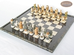 picture of Jungle Life Chessmen with Italian Lacquered Board [Black] (2 of 8)