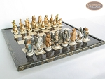 picture of Jungle Life Chessmen with Italian Lacquered Board [Black] (5 of 8)