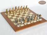 Jungle Life Chessmen with Spanish Traditional Chess Board [Extra Large] - Item: 834