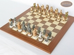 picture of Jungle Life Chessmen with Spanish Traditional Chess Board [Extra Large] (2 of 8)