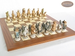 picture of Jungle Life Chessmen with Spanish Traditional Chess Board [Extra Large] (5 of 8)