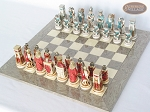 picture of Egyptian Chessmen with Spanish Lacquered Chess Board [Grey] (2 of 8)