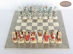 picture of Egyptian Chessmen with Spanish Lacquered Chess Board [Grey] (3 of 8)