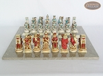 picture of Egyptian Chessmen with Spanish Lacquered Chess Board [Grey] (4 of 8)
