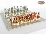 picture of Egyptian Chessmen with Spanish Lacquered Chess Board [Grey] (5 of 8)