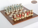 Egyptian Chessmen with Italian Lacquered Chess Board [Wood] - Item: 846