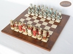 picture of Egyptian Chessmen with Italian Lacquered Chess Board [Wood] (2 of 8)