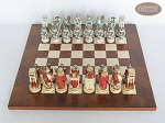 picture of Egyptian Chessmen with Italian Lacquered Chess Board [Wood] (3 of 8)
