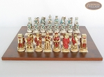 Egyptian Chessmen with Italian Lacquered Chess Board [Wood]