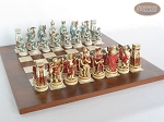 picture of Egyptian Chessmen with Italian Lacquered Chess Board [Wood] (5 of 8)
