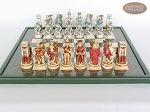 picture of Egyptian Chessmen with Italian Lacquered Chess Board [Green] (4 of 8)
