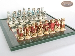 picture of Egyptian Chessmen with Italian Lacquered Chess Board [Green] (5 of 8)