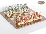 Egyptian Chessmen with Spanish Lacquered Board [Wood] - Item: 850