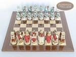 picture of Egyptian Chessmen with Spanish Lacquered Board [Wood] (3 of 8)