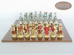 picture of Egyptian Chessmen with Spanish Lacquered Board [Wood] (4 of 8)