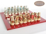 picture of Egyptian Chessmen with Italian Lacquered Chess Board [Red] (5 of 8)
