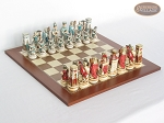 Egyptian Chessmen with Spanish Traditional Chess Board [Large] - Item: 849