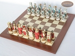 picture of Egyptian Chessmen with Spanish Traditional Chess Board [Large] (2 of 8)