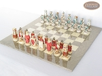 picture of Egyptian Chessmen with Large Spanish Lacquered Chess Board [Grey] (2 of 8)