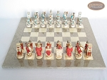 picture of Egyptian Chessmen with Large Spanish Lacquered Chess Board [Grey] (3 of 8)