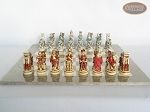 picture of Egyptian Chessmen with Large Spanish Lacquered Chess Board [Grey] (4 of 8)