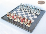 picture of Egyptian Chessmen with Italian Lacquered Board [Black] (2 of 8)