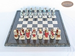 picture of Egyptian Chessmen with Italian Lacquered Board [Black] (3 of 8)