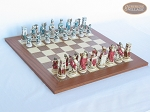 Egyptian Chessmen with Spanish Traditional Chess Board [Extra Large] - Item: 848