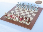 picture of Egyptian Chessmen with Spanish Traditional Chess Board [Extra Large] (2 of 8)