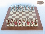 picture of Egyptian Chessmen with Spanish Traditional Chess Board [Extra Large] (3 of 8)