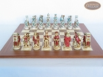 picture of Egyptian Chessmen with Spanish Traditional Chess Board [Extra Large] (4 of 8)