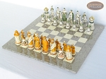 picture of The Battle of Kazan Chessmen with Spanish Lacquered Board [Grey] (2 of 8)